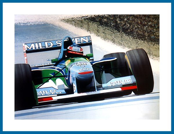 poster michael schumacher im benetton ford f1 1994. Black Bedroom Furniture Sets. Home Design Ideas