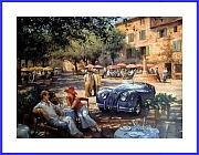 Jaguar XK140 POSTER lunch in Provence