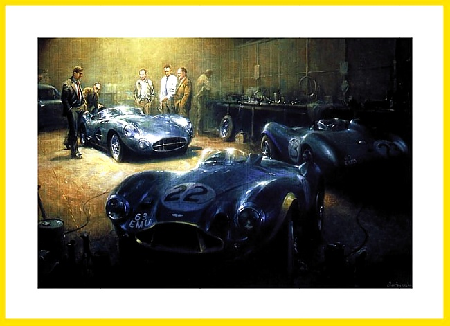Aston Martin DBR1 Poster Feltham David Brown 1956