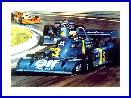 rarit t tyrell p34 6 rad formel 1 schweden grand prix 1976 poster bild. Black Bedroom Furniture Sets. Home Design Ideas