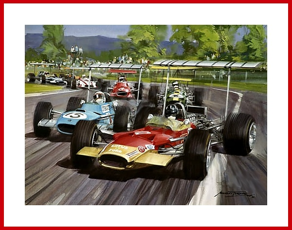 formel 1 grand prix mexico 1968 poster hill lotus rindt brabham repco. Black Bedroom Furniture Sets. Home Design Ideas