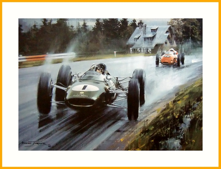 Lotus Jim Clark Poster Spa 1963 Lotus 25 Climax