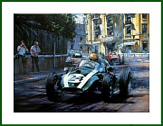 Poster Cooper T51 Climax Brabham World Champions 1959