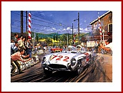 Mille Miglia 1955 Poster Mercedes 300 SLR Moss 722