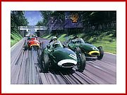anwall British Racing Green Formula 1 victory Poster 1957