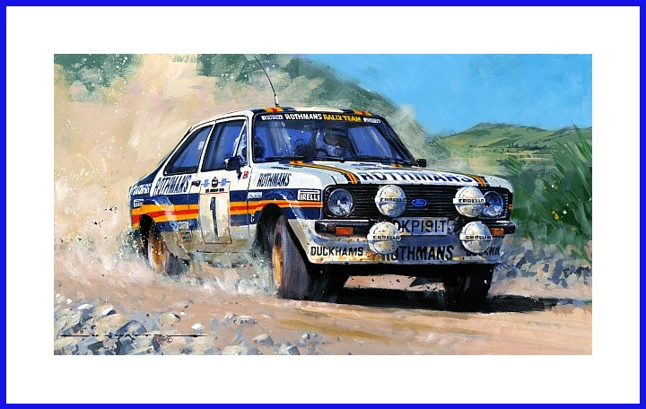 POSTER Rallye Ford Escort RS 2000 Vatanen 1981  Weltmeister World Champion