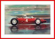Kunstdruck Bild Trips Ferrari Dino Full Speed